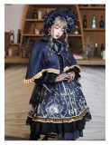 God Redeemed Gothic Dark Printed Lolita OP(Choker + Gloves + Overskirt)