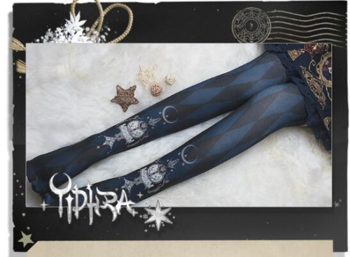 Mignight Cirous Lolita High Socks 64CM