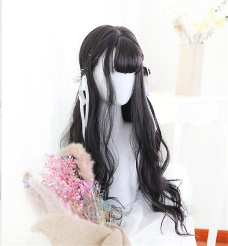 Sylvia 65cm Black Gental Wavy Wig