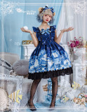Magic Tea Party ~Summer of White Bear Lolita JSK -Ready Made