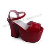 Matte Black High Heel Platform Lolita Sandals