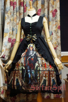 Surface Spell Vintage Gothic Black Lolita JSK Dress