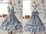 Doris Night ~College Style Lolita Vest JSK + Cape + Blouse -Pre-order