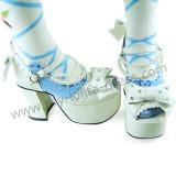 Cute Coffee Crystal Beads Lolita Summer Shoes