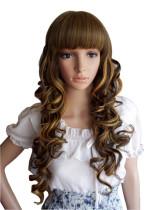 Blonde Blended Spiral Women Lolita Wig