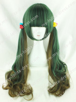 Amo Harajuku Jade Green Brown Lolita Hairpiece