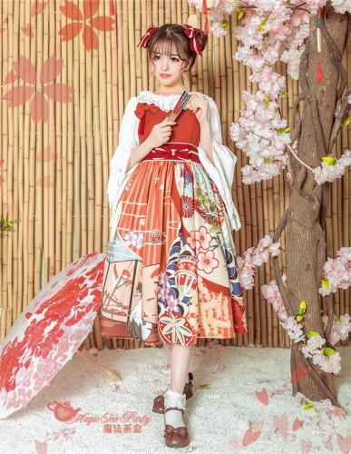 Magic Tea Party ~Crane Gratitude~ Lolita Jumper -Ready Made