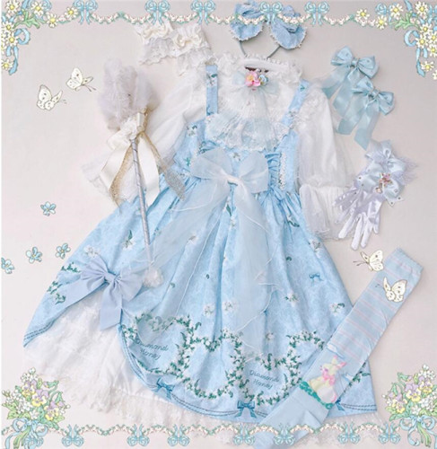 Diamond Honey ~Lily Story Lolita Jumper Light Blue L-in stock