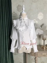 Alice Girl ~Berlin Girl~ Gigot Sleeves Lolita Blouse -Pre-order White Size M - In Stock