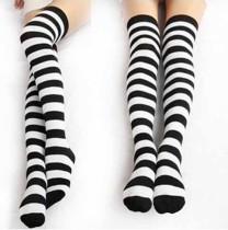 Japanese Cotton Straps Sweet Lolita High Socks -In Stock