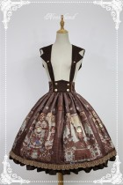 Neverland Lolita -Steampunk Cat- Lolita Salopette/Skirt  Gray Blue L IN STOCK