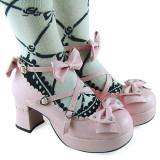 Sweet Pink PU Lolita Shoes