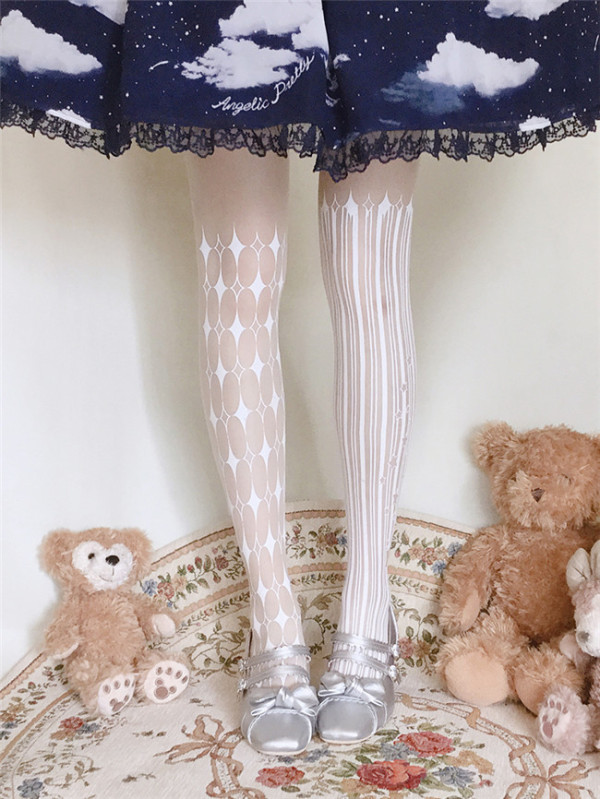 Ruby Rabbit ~Clown~ Thin Lolita Tights -Ready Made