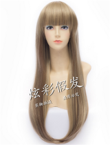 Sweet Two-tone Lolita Long Straight Wig with Bangs