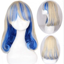 Antique White Blue Sweet Lolita Short Wig