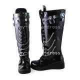 Gothic Black Vocaloid Kagamine Rin Boots