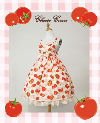 Cherry Tomato ~Sweet High Waist Dailywear Lolita Jumper
