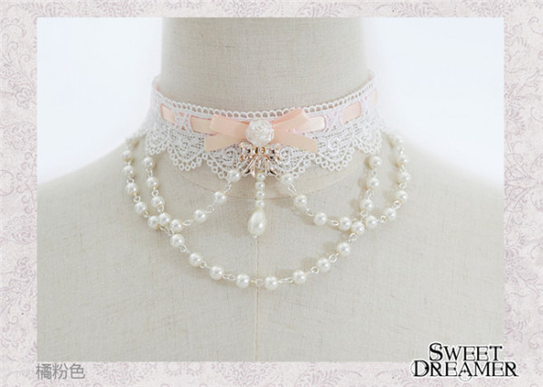 Sweet Dreamer~The Rose Bride~Beadchain Choker