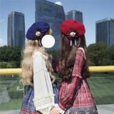 Alice Girl ~Gingham Teddy Lolita JSK -Pre-order