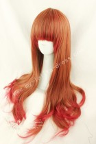 75cm Red Brown Curls Lolita Wig