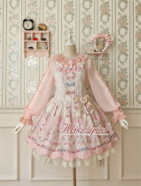 Alice Girl ~The Kitty's Tea Party Sweet Lolita OP/Salopette -Pre-order
