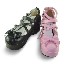 Black High Platform Lolita Shoes