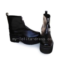 Black High Heels Wedges Lolita Girls Shoes