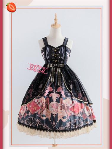 The Clock Adventure~ Sweet Lolita JSK Dress With Overskirt Version I