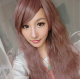 Brown Face Framing Long Curls Lolita Wig