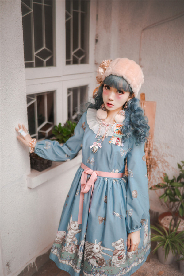 Fleurs et écho~Thumrabbit~ Lolita OP Dress
