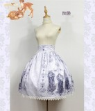 Nightmare Spells~ Lolita Skirt Black Size M In Stock