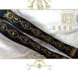 Yidhra -Dream- Horizon- Gold-stamping Printed Lolita Tights - In Stock