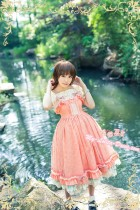 Strawberry Witch ***Latouchea fokiensis Franch*** Lolita Jumper Dress Beige In Stock