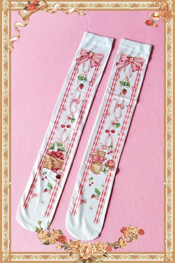 Infanta***  The Picnic Rabbit*** Lolita Knee-High Socks - In Stock