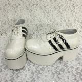Sweet White Lolita High Platform with Black Striped