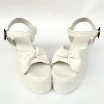 White High Platform lolita Shoes