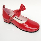 Black Long Belt Lolita Shoes