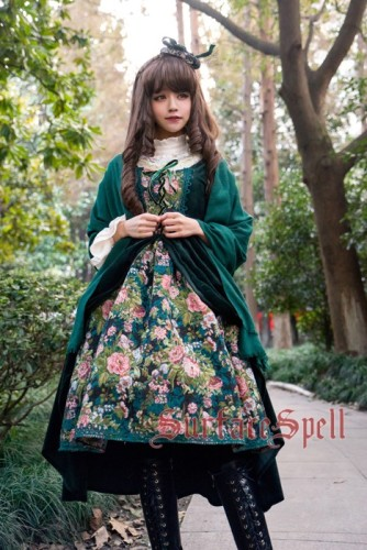 Surface Spell ~Winter Rose Garden~ False Two Pieces Lolita JSK