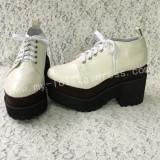 Sweet Matte White Lolita Heels High Platform