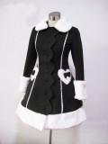Black Long Winter Lolita Jacket -In Stock