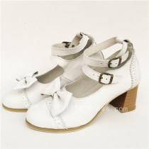 Beautiful Bow Double Belts Lolita Heels Shoes