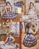 Cute Q  ~Dessert Parties~ Sweet Lolita OP/JSK -Pre-order Closed