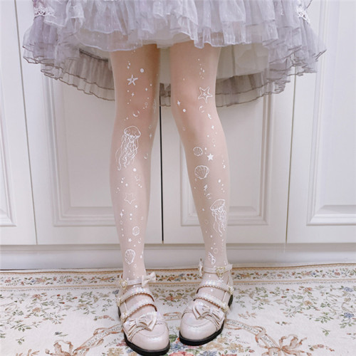 Ruby Rabbit ~ Aurelia Aurita Thin Lolita Tights -Pre-order