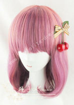 Girl's Sweet Rosy Brown Pink Bobo Lolita Wig