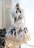 Strawberry Witch Chinese Dragon and Landscape Printed Qi Lolita OP Dress