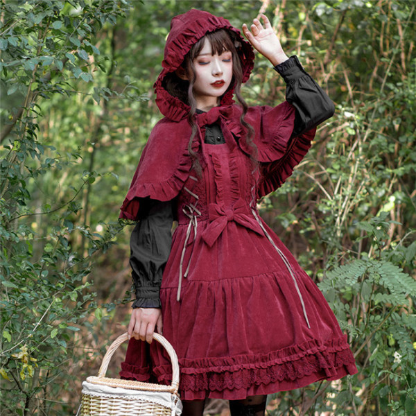 The Wolfing Red Riding Hat Thickening Lolita Jumper