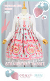 Neverland Lolita ~Strawberry Bunny~ High Waist JSK Special Version Mint Size L - In Stock