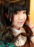 Black Green Lolita Wig 2 Ponytails