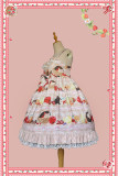 Infanta ~Little Hedgehog ~ Slight High Waist Lolita JSK -Ready made Navy JSK Size S + Headbow - In Stock