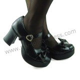 Bows Single Strap Lolita Shoes